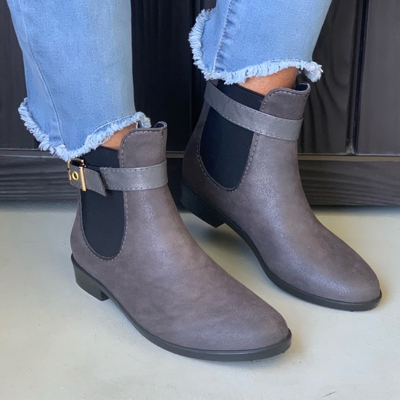 Charcoal Water Resistant Chelsea Ankle Boots